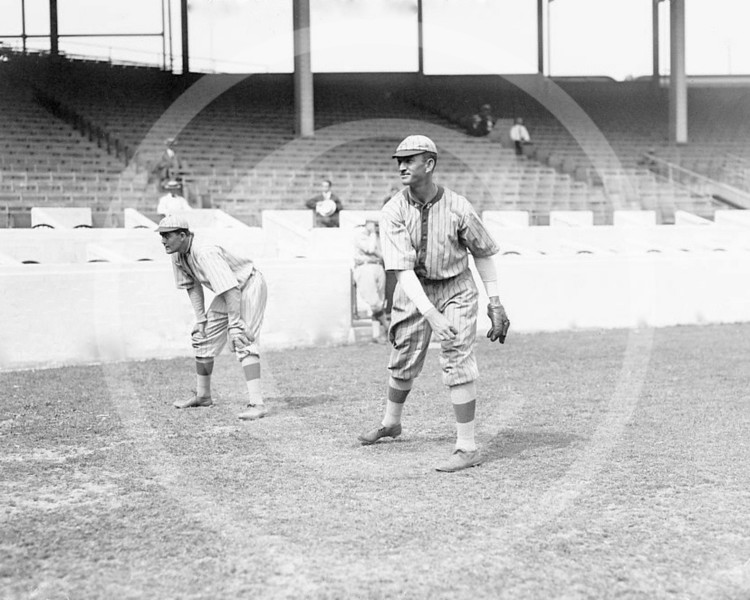 Babe Adams & Owen Wilson, Pittsburgh Pirates NL, 1913.
