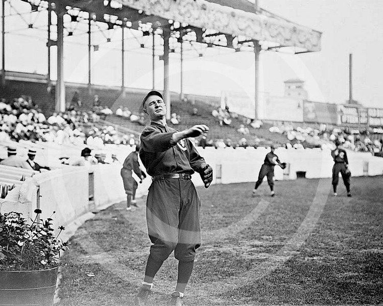 Frank Chance, Chicago Cubs NL, at the Polo Grounds NY, 1912.