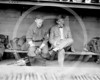 Johnny Evers & George Stallings, manager, Boston Braves NL 1914.