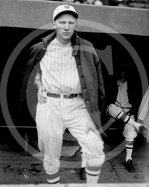 Fred Lindstrom, New York Giants NL, during the 1924 World Series, 7 October 1924.