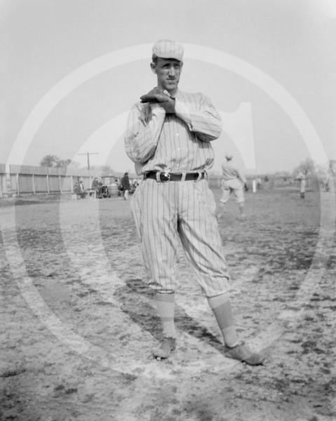 Al Demaree, New York Giants NL, at spring training in Marlin Springs, Texas 1913.