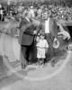 Babe Ruth, New York Yankees AL, Bill Edwards, and mascot 7 October 1924.