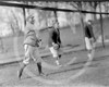 Bert Gallia, Joe Boehling and unidentified, Washington Senators AL, 1913.