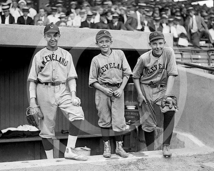 Cleveland Indians AL, Bat Boys, 22 July 1922.