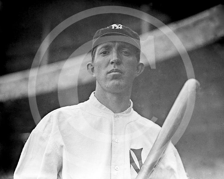 Ezra Midkiff, New York Yankees AL,  1913.