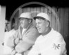 Arlie Latham foreground and Wilbert Robinson background, New York Giants NL 1909.