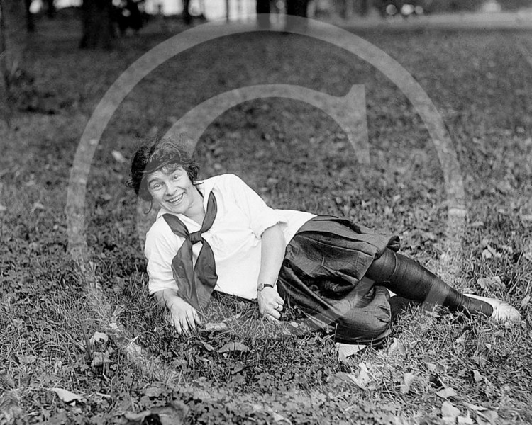 Female baseball player, 1918 - 1920.
