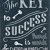 The Key to Success is Hard Work and Determination