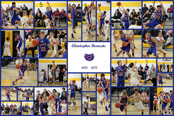 Christopher Jr High Boys Bearcats Basketball 2012-2013