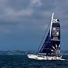 """Mod 04 """"Gitana XV"""", de la Gitana Team, du Groupe Edmond de Rothschild, skipper Sébastien Josse.<br /> Il est arrivé 2ème. de la Krys Ocean Race, course transatlantique en équipage, pour MOD 70, départ de New-York le 07 juillet, arrivée (1er & 2nd) le 12 juillet 2012 à Brest.<br /> CeTrimaran monotype de 70 pieds comme son nom l'indique, le MOD 70' (Multi One Design), a été dessiné par le cabinet d'architecture navale VPLP."""