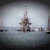 """Le Trois mâts """"Götheborg"""" est une réplique d'un navire du XVIIIe siècle de la Compagnie suédoise des Indes orientales."""