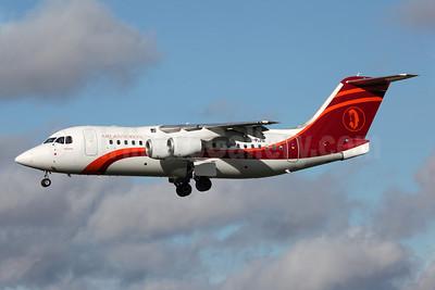 Air Annobón BAe RJ85 EI-RJS (3C-MAA) (msn E2365) DUB (Greenwing). Image: 922214.