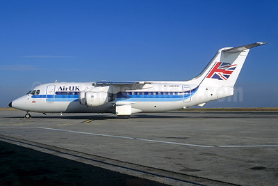 Air UK BAe 146-200 G-UKRH (msn E2077) CDG (Christian Volpati). Image: 930621.