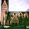 """This is the cathedral Paderborn. It dates from the 13th century. The exterior isn't really beautiful but the inside is one of the nicest we've seen."" Paderborn, Germany 1968"