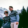 """""""B&B - aren't they cute! Those are our Norwegan sweaters, about $10-12 apiece. (jealous!)"""", Garmisch, Germany, 1968"""