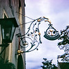 """""""One of many pretty street signs in Rothenburg."""" Germany, 1968"""