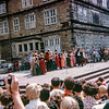 """""""Every Sunday in Hameln the story of the Pied Piper is re-enacted. These are the villagers."""" Germany, 1968"""