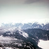 """""""Germany from the cable car as we rode up to the Zugspitze. The white is Eibsee lake."""" Germany, 1968"""