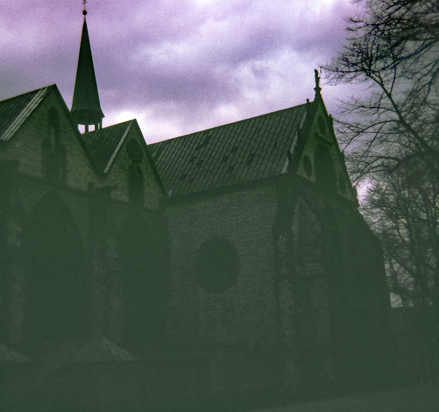 """""""The back of the Paderborn Cathedral"""", Paderborn, Germany, 1968"""