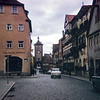 A stree inside Rothenburg, Germany, 1968