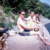 Bob with a couple Army friends picnicing along the Edersee. Germany, 1968