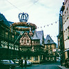 """""""Decorations for one of the wine fests along the Rhine."""" Germany 1968"""
