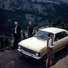 """All three of us enjoying the famous German wine country."" Along the Mosel River, Germany 1968"