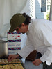 Chef John Zucker of Cru Catering assembles his <br /> hors d'oeuvres.