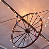 The base of the lighting over the stage...the wagon wheel!