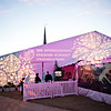 Clever Modern GOBOs from PDA Lighting and Sound dressed the outside of the tent.
