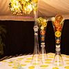 Our Entrance Tent...a modern orange and green interpretation in Murano Glass.