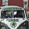 GREG SUKIENNIK -- MANCHESTER JOURNAL<br /> A Volkswagen bus carries Burr and Burton Academy senior Lauren Carter through the streets of Manchester during the Class of 2020's car parade on May 26, 2020