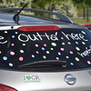 GREG SUKIENNIK -- MANCHESTER JOURNAL<br /> A Burr and Burton Academy senior's car says it all before a car parade through Manchester on May 26, 2020.