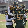 GREG SUKIENNIK -- MANCHESTER JOURNAL<br /> Burr and Burton Academy's Ethan Simonds congratulates Jake Baker after a touchdown during BBA's 63-14 win over Fair Haven in the Vermont Division 2 championship game on Saturday, Nov. 10.