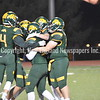 GREG SUKIENNIK -- MANCHESTER JOURNAL<br /> Burr and Burton Academy celebrates in the final seconds of its 63-14 win over Fair Haven in the Vermont Division 2 championship game on Saturday, Nov. 10.
