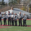 GREG SUKIENNIK -- MANCHESTER JOURNAL<br /> The game referees paid their respects to the flag during the Star-Spangled Banner at the Vermont Division 2 championship game on Saturday, Nov. 10.