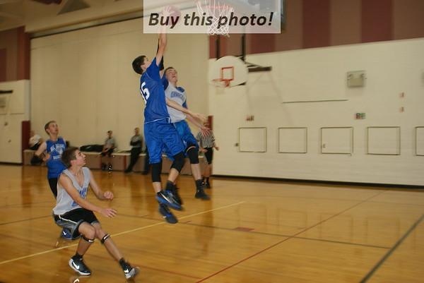 BBE boys' basketball at Sauk Centre scrimmage