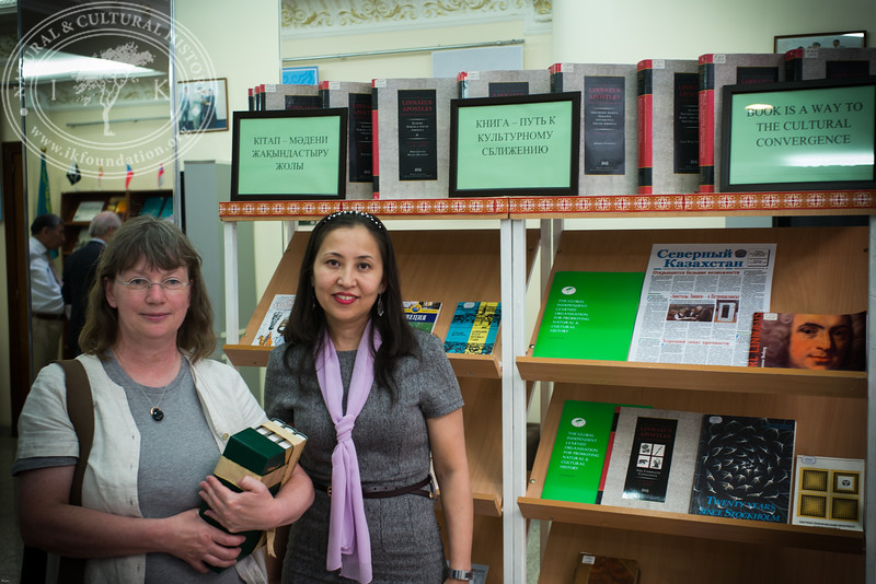 "Small exhibition including Linnaeus' related books and Swedish literature in The National Academic Library of Kazakhstan as part of the seminar ""The Linnaeus Apostles Bridge Builder Expeditions - Sweden, Kazakhstan, Kyrgyzstan & Russia. Including Launch of The Explorer's Field Guide""."