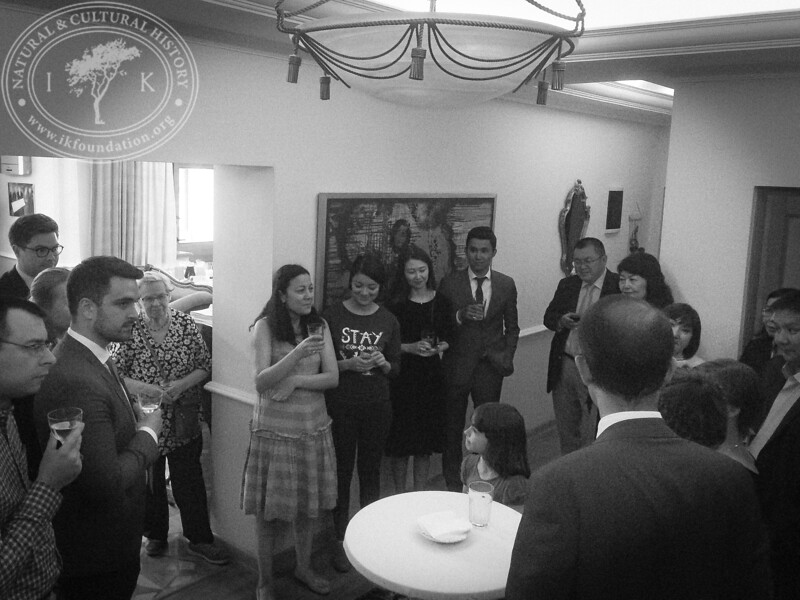 """Guests in the Ambassador's Residence as part of """"The Linnaeus Apostles Bridge Builder Expeditions - Sweden, Kazakhstan, Kyrgyzstan & Russia. Including Launch of The Explorer's Field Guide""""."""