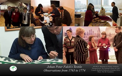 "Viveka Hansen's Keynote pictures to her speech | ""Johan Peter Falck's textile observations from 1763 to 1774 – trade in fabric, natural dyes and fur."""