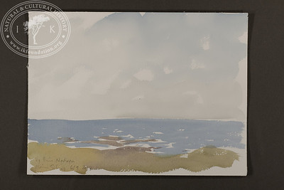 "Panorama sketch at Nordøya towards the Greenland sea | 6.9.2018 | ""I want to convey what I see with immediacy and simplicity to make the viewer feel present on the Arctic scene."" 