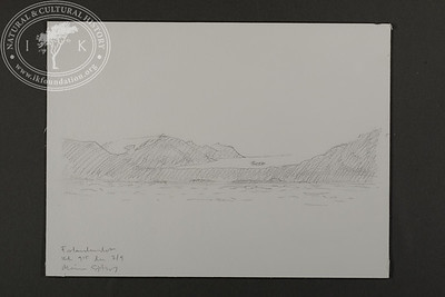 """A glimpse of a glacier at Forlandet 