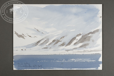 """Adventfjorden soon after the departure of m/s Origo 