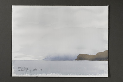 "Distant fog in Isfjorden | 23.9.2019 | ""I want to convey what I see with immediacy and simplicity to make the viewer feel present on the Arctic scene."" 