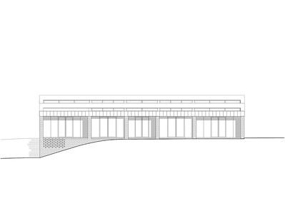 Plan 09 Doppelkindergarten Rüti - Ansicht West 1:200