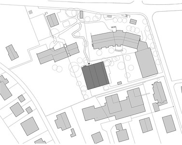 Plan 01 Doppelkindergarten Rüti - Situationsplan