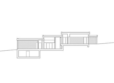 Plan 06 Doppelkindergarten Rüti - Längsschnitt 2 1:200