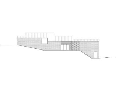 Plan 07 Doppelkindergarten Rüti - Ansicht Nord 1:200
