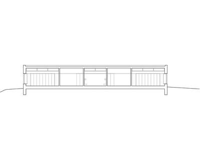 Plan 03 Doppelkindergarten Rüti - Querschnitt 1 1:200