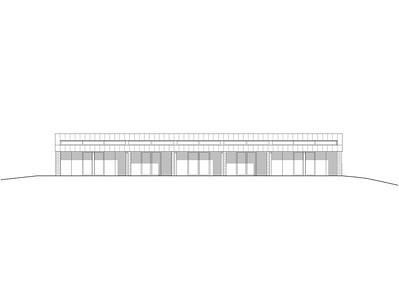 Plan 08 Doppelkindergarten Rüti - Ansicht Ost 1:200